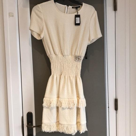 70e532d0e5267 Maje cream bouclé dress